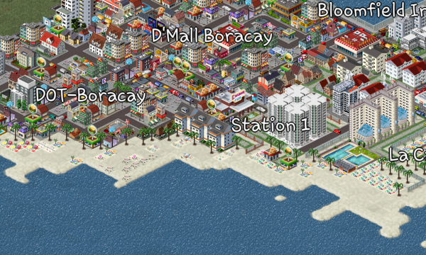 This is Boracay Island, my first map I made here in Theotown. It's one of the best tropical island in the world.