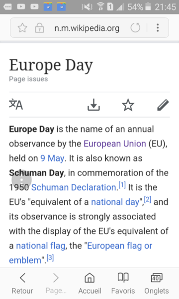 Europe Day ?