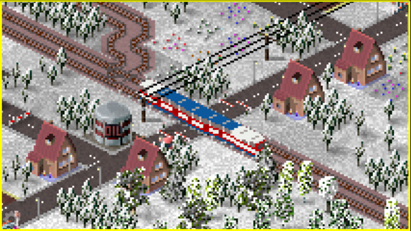 A cold train adventure going through village