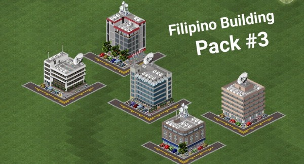 These are the 5 buildings found in my plugin.. on respective order from up to down in by column.. ANB Bank, Insular Life, CitiBank, Hotel, and lastly the Sterling Bank of Asia..
