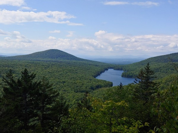 Top of Owls Head in Peacham, Vermont