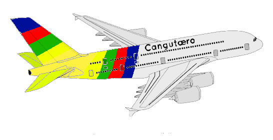Cangutæro's Airbus A380, used since October 27, 2007.