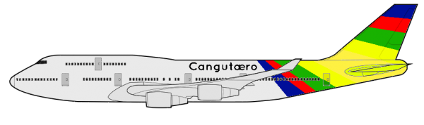 Cangutæro's Boeing 747, used since March 17, 1970