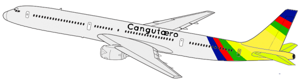Cangutæro's Boeing 757, used from January 6, 1983 to August 27, 2010, re-used since February 29, 2015.