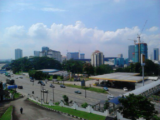 View of Johore Bahru city from the balcony