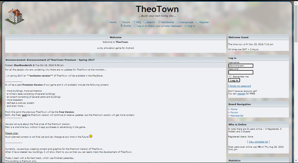 TheoTown Homepage