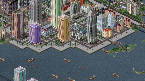 Itoikee City, waterfront with Dusko's seawalls.