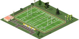 Shading, shadows, some cross shadows from the field lights added.