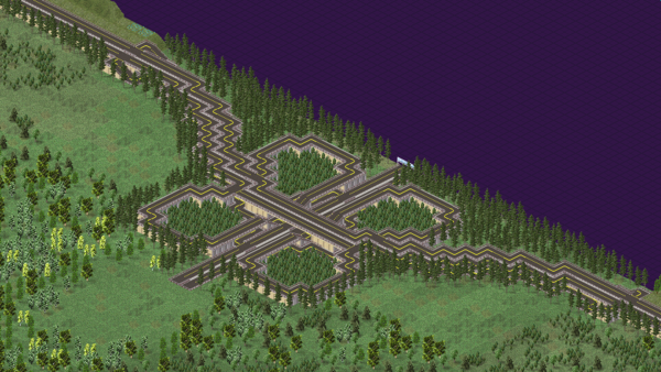 III. A very, very finely made cloverleaf at one end of the map. And fortunately I was able to reread Leo's tutorial again so I can compact the design by a lot.