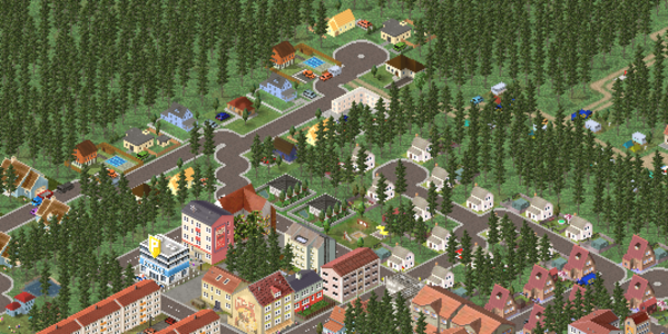 The new town and American style suburban houses
