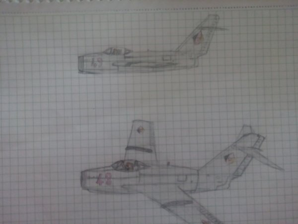 My last plane drawing (Mig 15 East germany)