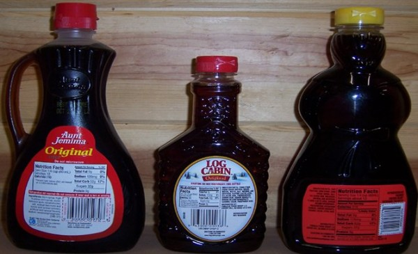 Fake maple flavored corn syrup