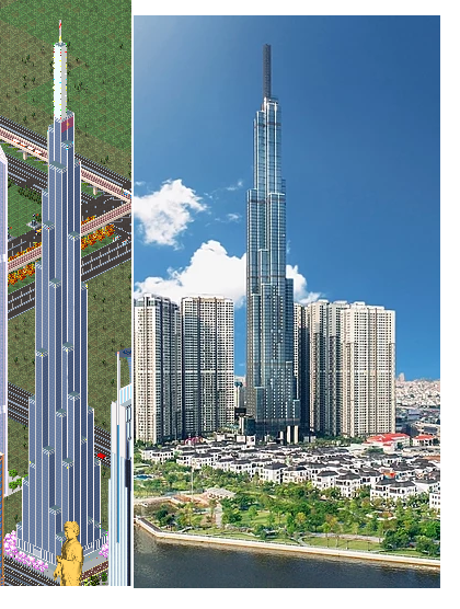 Landmark 81 is a super-tall skyscraper in Ho Chi Minh City, Vietnam. The investor and primary developer for the project is Vinhomes, a Vietnamese corporation that is also the country's largest real-estate company. Landmark 81 is the tallest building in Vietnam, the tallest completed building in Southeast Asia as of July 2018 and the 14th tallest building in the world.