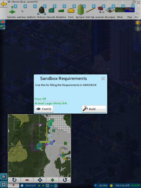 As you can see, my non Sandbox map meets the requirements.