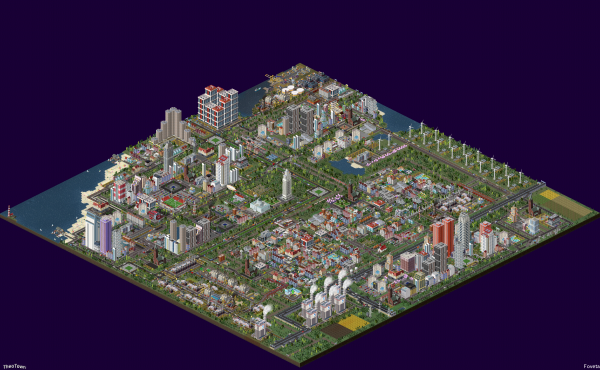 The city was built on a standard map on medium difficulty