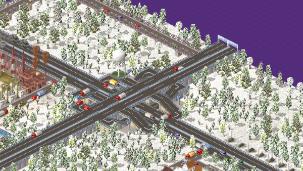I can't be sure of this since, I've hastily placed some buildings here and there so that vehicles would show up.